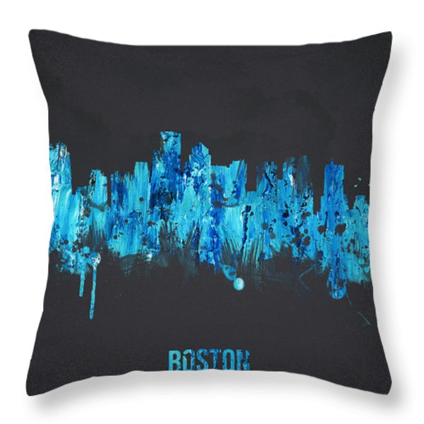 Boston Massachusetts Usa Throw Pillow by Aged Pixel