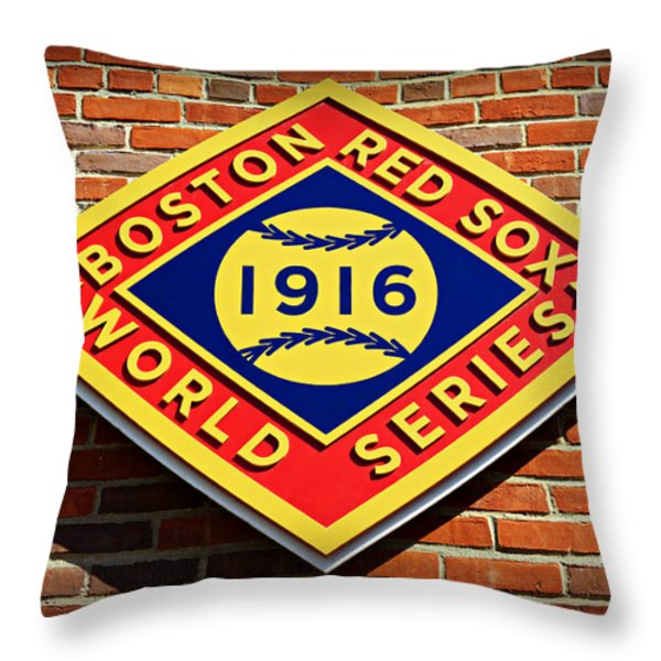 Boston Red Sox 1916 World Champions Throw Pillow by Stephen Stookey