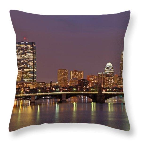 Boston Redline Throw Pillow by Juergen Roth