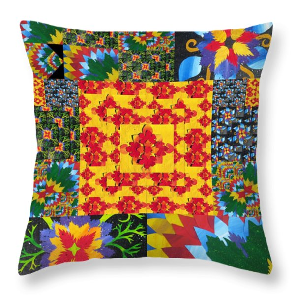 Botanic Gardens in Recycled Math Books Throw Pillow by Cathy Jacobs