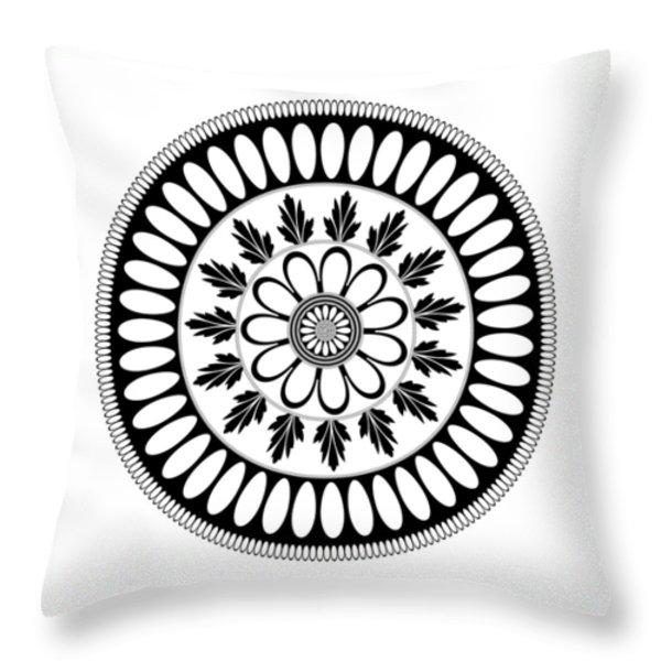 Botanical Ornament Throw Pillow by Frank Tschakert