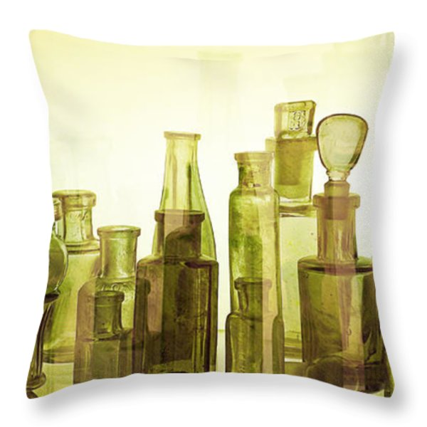 Bottled Light Throw Pillow by Holly Kempe