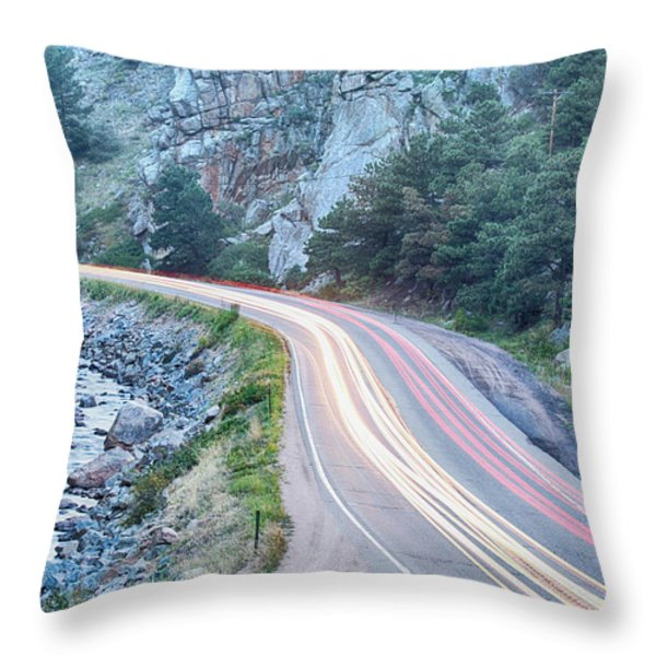 Boulder Canyon Drive And Commute Throw Pillow by James BO  Insogna