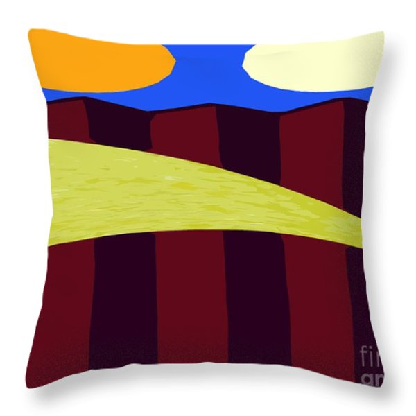 BOUNCY SUNSHINE Throw Pillow by Patrick J Murphy