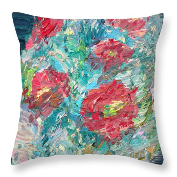Bouquet Throw Pillow by Fabrizio Cassetta