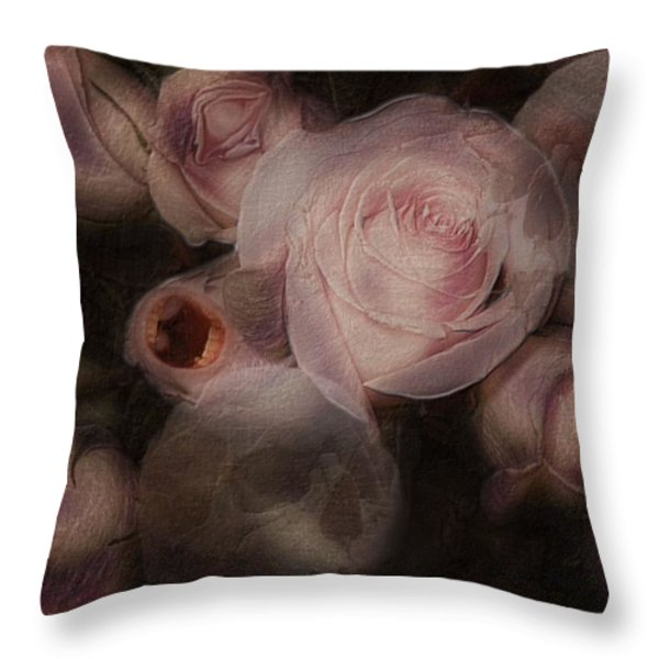 Bouquet Macabre Throw Pillow by Mimulux patricia no