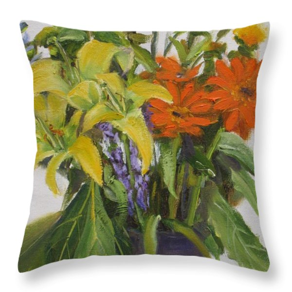 Bouquet Throw Pillow by Mohamed Hirji