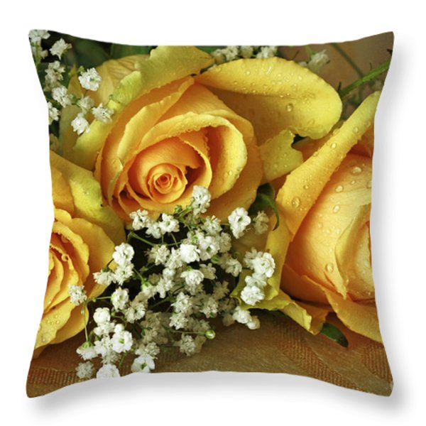 Bouquet Of Sunshine Throw Pillow by Inspired Nature Photography By Shelley Myke
