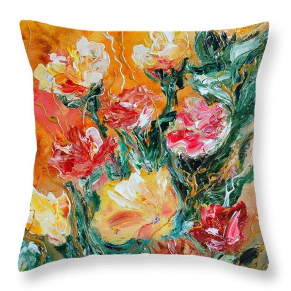 Bouquet Throw Pillow by Teresa Wegrzyn