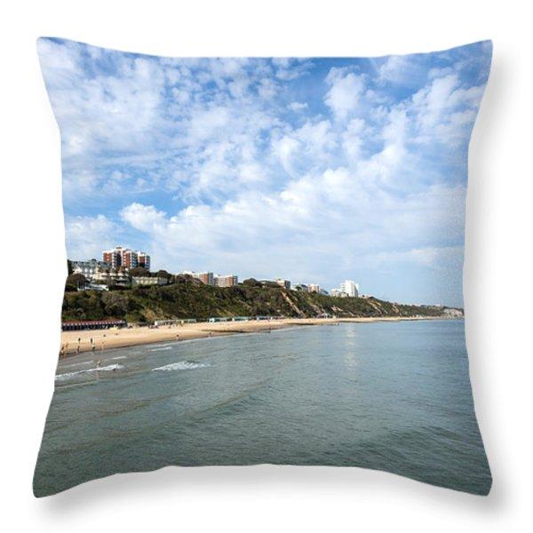 Bournemouth Throw Pillow by Svetlana Sewell
