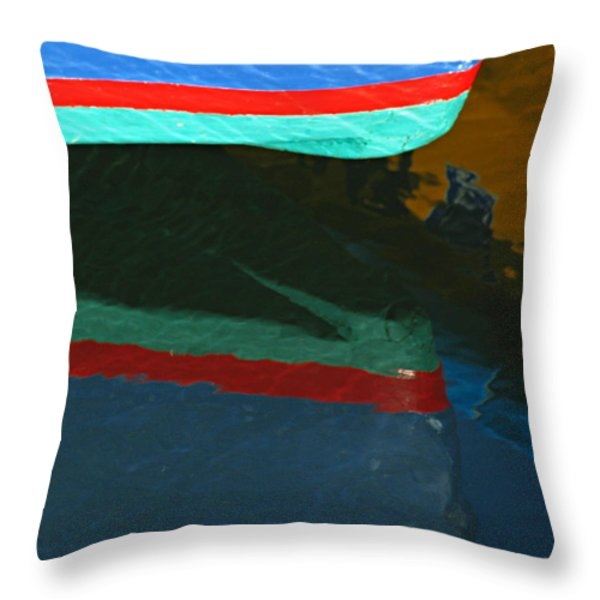 Bow Reflection Throw Pillow by Juergen Roth