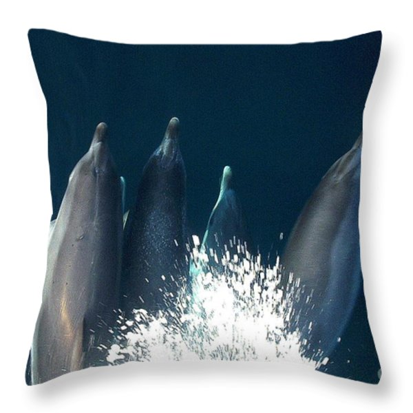 Bow Riders Throw Pillow by Donnie Freeman