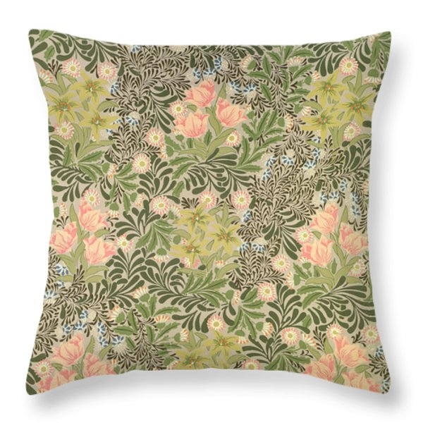 Bower Design Throw Pillow by William Morris