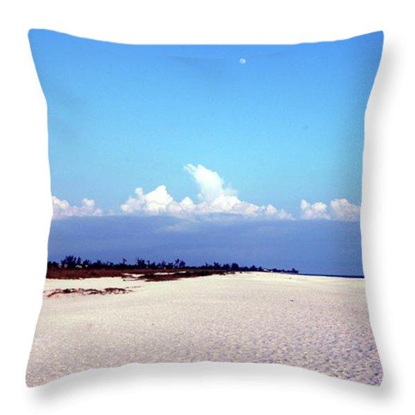 Bowman's Beach Throw Pillow by Kathleen Struckle