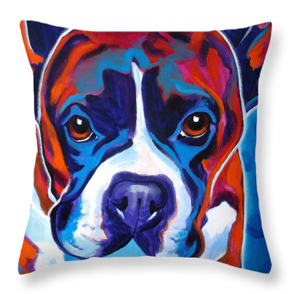 Boxer - Atticus Throw Pillow by Alicia VanNoy Call