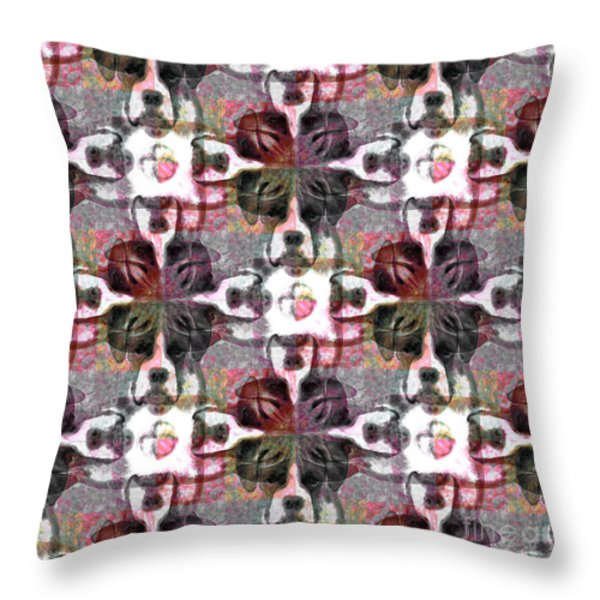 Boxer Abstract 20130126v4 Throw Pillow by Wingsdomain Art and Photography