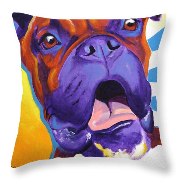 Boxer - Chance Throw Pillow by Alicia VanNoy Call