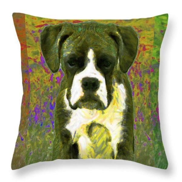 Boxer Three 20130126 Throw Pillow by Wingsdomain Art and Photography