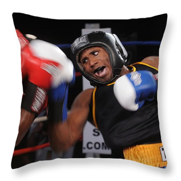 Boxing Throw Pillow by Mountain Dreams