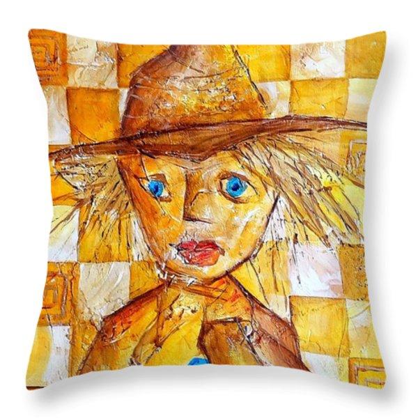 Boy 621-12-13 Marucii Throw Pillow by Marek Lutek