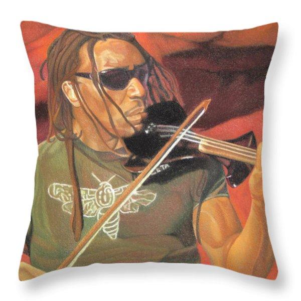 Boyd Tinsley at Red Rocks Throw Pillow by Joshua Morton