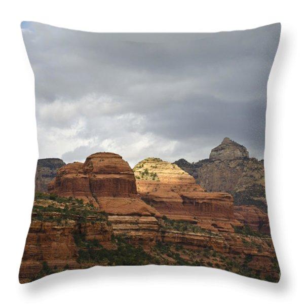 Boynton Canyon II Throw Pillow by David Gordon
