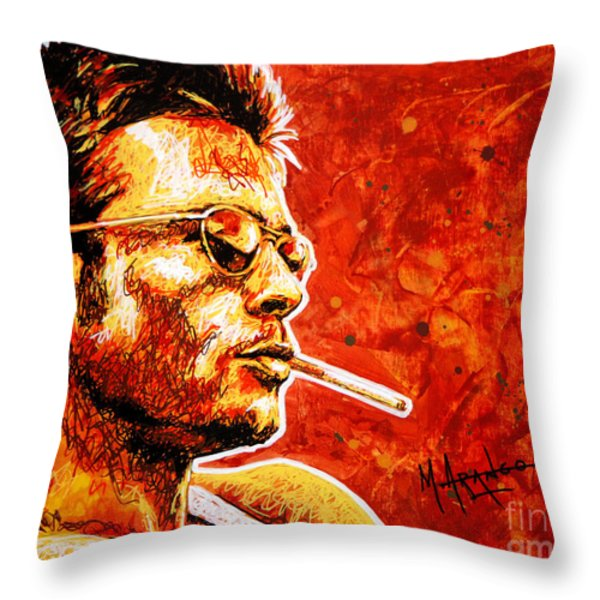 Brad Throw Pillow by Maria Arango