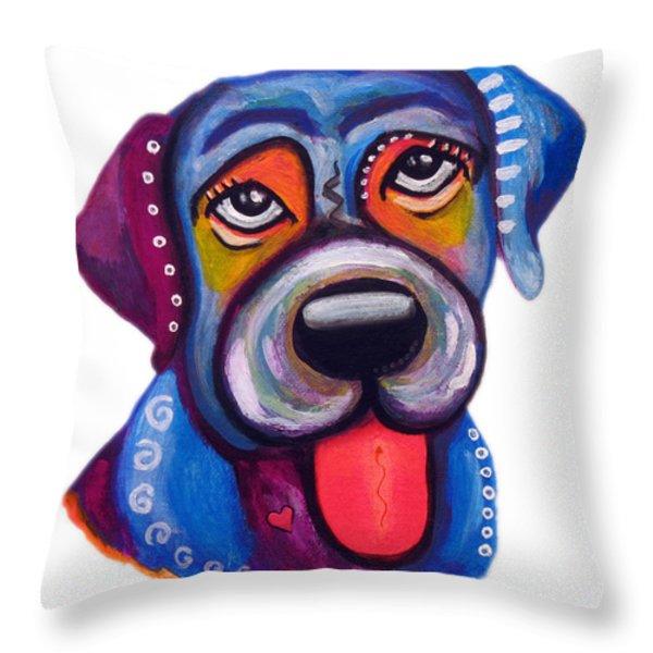 Brad the Labrador Throw Pillow by Jill English