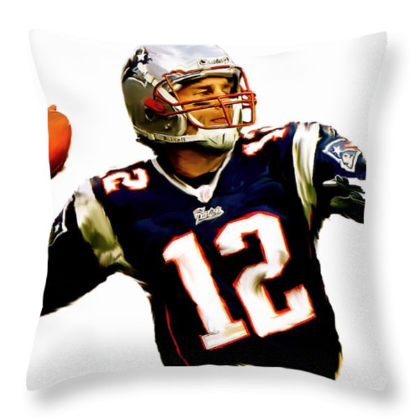 Brady  Tom Brady  Throw Pillow by Iconic Images Art Gallery David Pucciarelli
