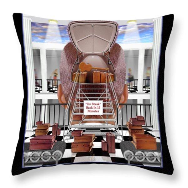 Brain Luggage Throw Pillow by Mike McGlothlen