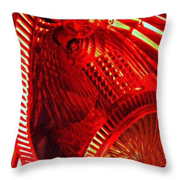 Brake Light 42 Throw Pillow by Sarah Loft