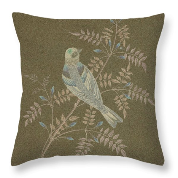 Bramble Finch-1 Photoart Throw Pillow by Becky Hayes