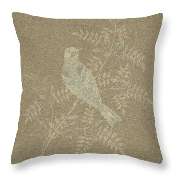 Bramble Finch-2 Photoart Throw Pillow by Becky Hayes