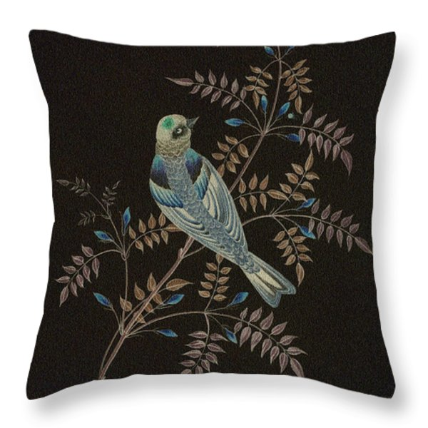 Bramble Finch-4 Photoart Throw Pillow by Becky Hayes