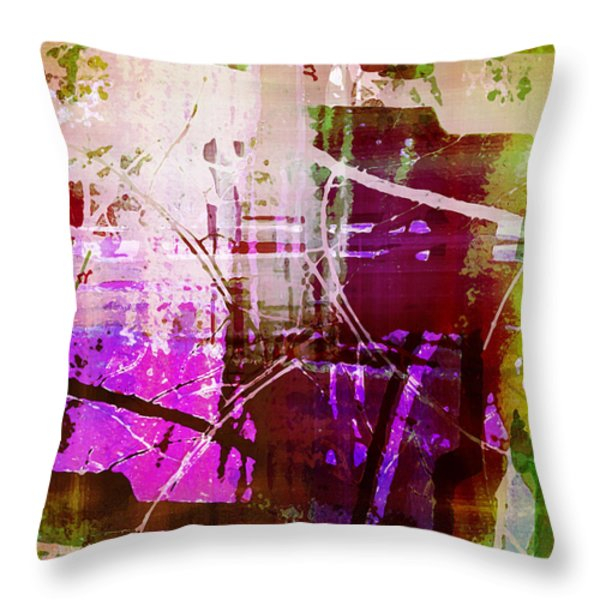 Branching Out Throw Pillow by Shawna  Rowe