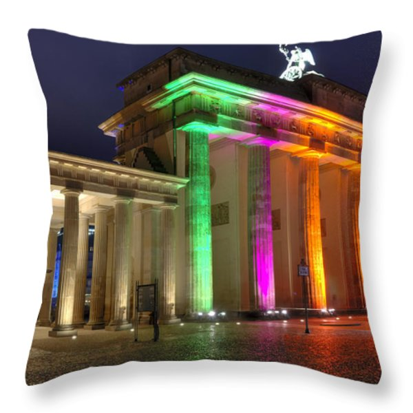 Brandenburger Tor Throw Pillow by Steffen Gierok