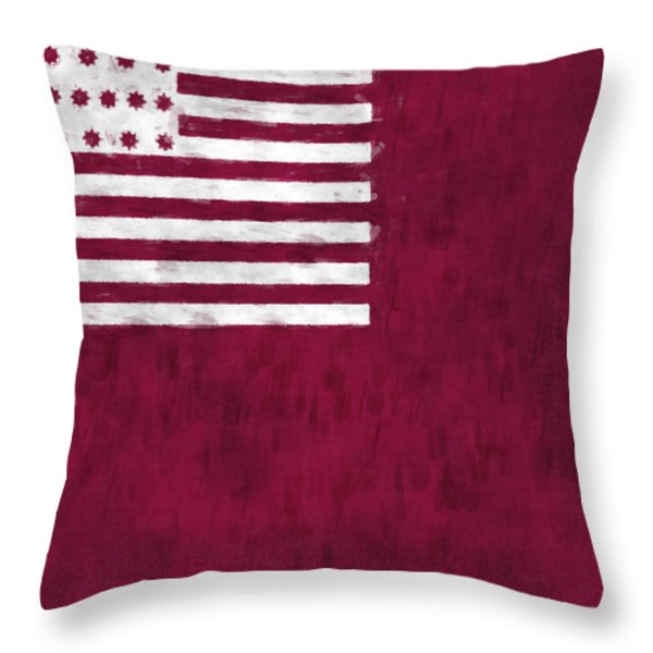 Brandywine Flag Throw Pillow by World Art Prints And Designs