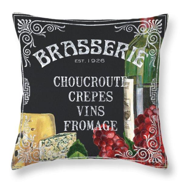 Brasserie Paris Throw Pillow by Debbie DeWitt