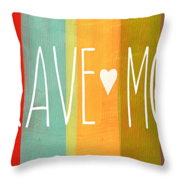 Brave Mom Throw Pillow by Linda Woods