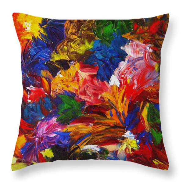 Brazilian Carnival Throw Pillow by Monique Wegmueller