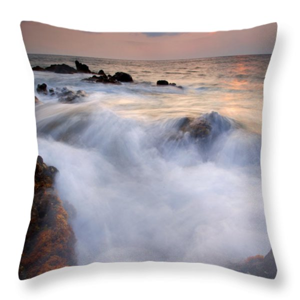 Break In The Storm Throw Pillow by Mike  Dawson