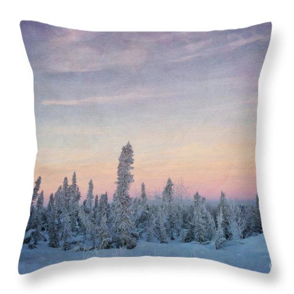 break of dawn Throw Pillow by Priska Wettstein