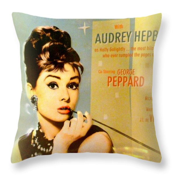 Breakfast At Tiffany Throw Pillow by The Creative Minds Art and Photography
