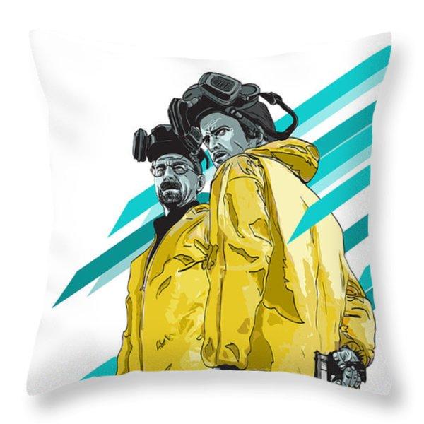 Breaking Bad Throw Pillow by Jeremy Scott