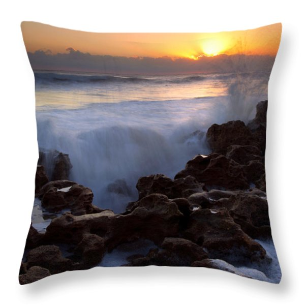 Breaking Dawn Throw Pillow by Mike  Dawson