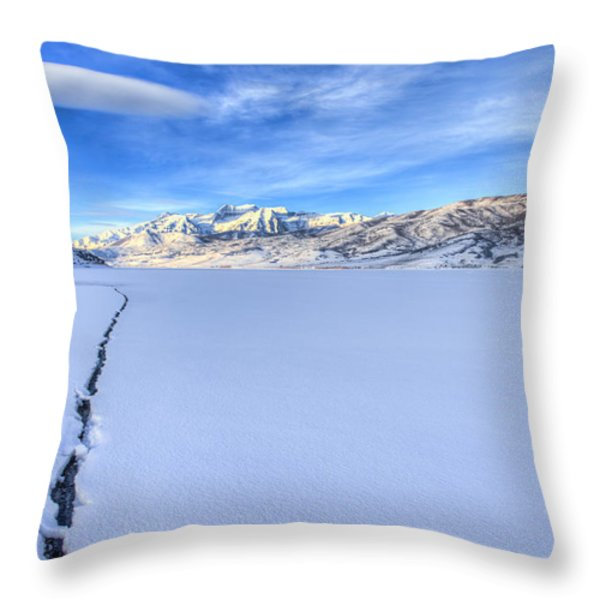Breaking Ice Throw Pillow by Chad Dutson