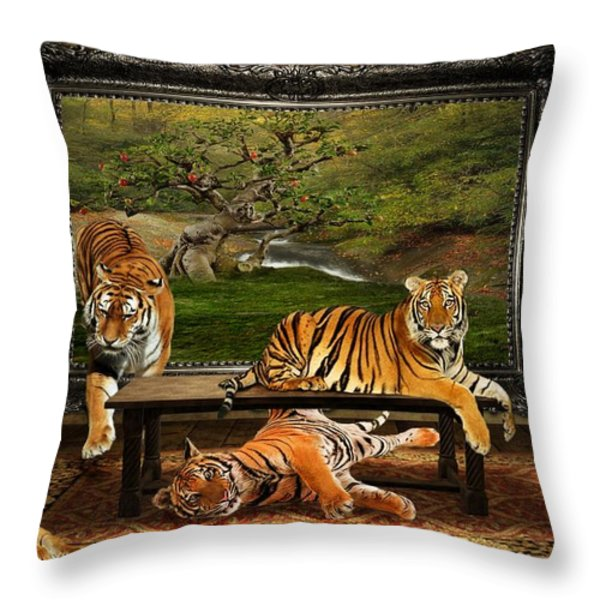 Breaking Out Throw Pillow by Davandra Cribbie