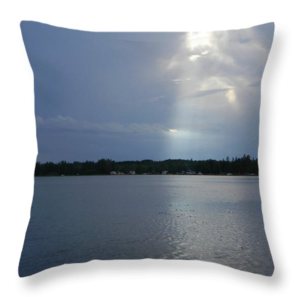 Breaking Through Throw Pillow by Mark Minier