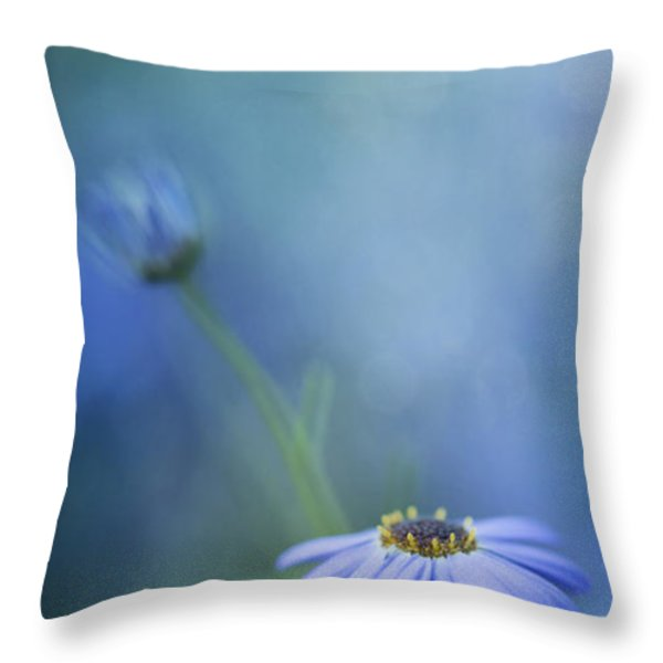 Breathe Deeply Throw Pillow by Priska Wettstein