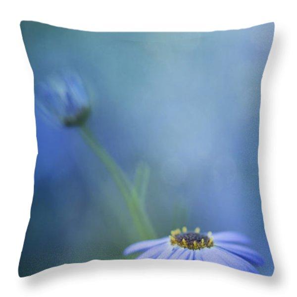breathe deeply Throw Pillow by Priska Wettstein
